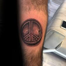 70 peace sign tattoos for men symbolic ink design ideas