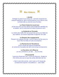 Les Meme - our values nos valeurs les clefs d or canada blog