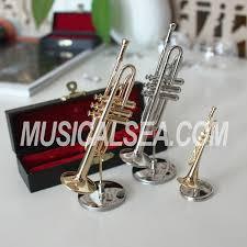 metallic miniature trumpet ornament miniature musical instruments
