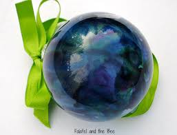 melted crayon glass ornaments falafel and the bee