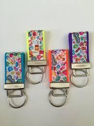 kids bag tags bookbag fob shopkins ribbon key holder