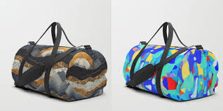 Bag Design Shuffle Your Belongings In Society6 U0027s Newly Launched Duffle Bags