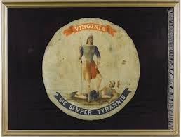 State Flag Of Virginia This Day Bonnie Blue Flag Edition Encyclopedia Virginia The Blog
