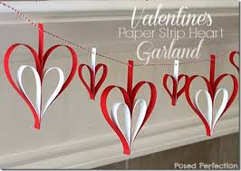 Valentine Decoration Ideas For Church by Heart Archives Paper Strips Heart Garland And Garlands