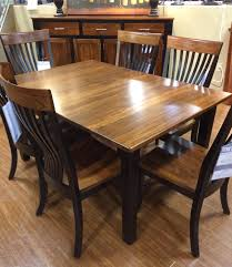 Elm Dining Table Palettes By Winesburg Blk Elm 4260a Two Toned Dining Table Dunk