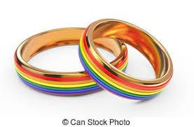 concept mariage illustration de arc en ciel concept rendre anneaux