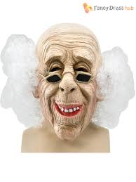 bald man halloween mask mens old man wizard latex mask u0026 grey hair halloween fancy dress