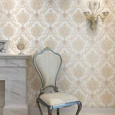 luxury vintage classic beige damask embossed textured off white