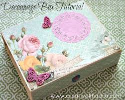Decoupage Box Ideas - how to decoupage box with scrapbook paper