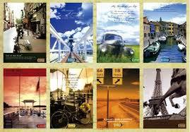 shop european scenery vintage posters postcards set