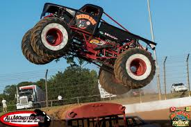 outside monster truck shows runte and sims victorious at back to monster truck bash