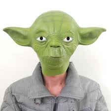 star wars movie yoda jedi master latex head halloween mask cosplay