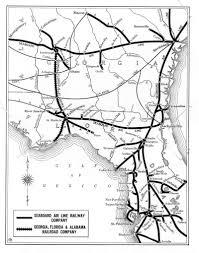 Florida Railroad Map by Georgia Florida And Alabama Rr