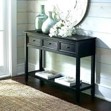 black sofa table with drawers long black console table macromode co