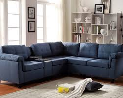 Sofas Made In Usa Astounding Blue Microfiber Sectional Sofa 85 About Remodel