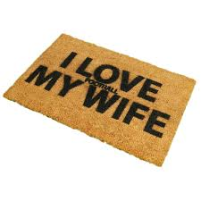 ckb ltd joke doormats i love football or my wife coir doormat