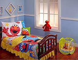 amazon com sesame street scribbles 10 piece toddler bedding set