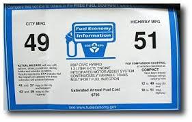 gas mileage for 2007 honda civic honda civic hybrid