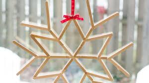 make a cool craft stick snowflake diy crafts guidecentral