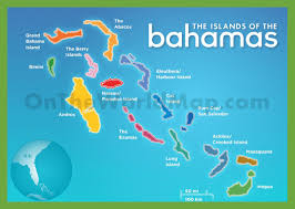 bahamas map the islands of the bahamas map