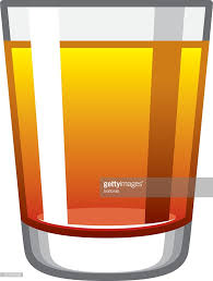 alcoholic pineapple upside down cake shot glass icon vector art