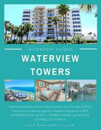 Condos For Sale In Destin And Panama City Beach Pre Construction Sought After Waterview Towers Listing Destin Florida