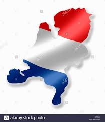 Hollanda Flag Holland Dutch Netherland Netherlands Country Map Outline With