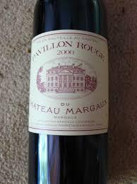 chateau margaux i will drink 2000 pavillon du château margaux bordeaux médoc