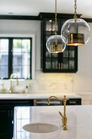 Kitchen Cabinets Pulls Black Kitchen Cabinets White Counters Brass Gold Faucet And