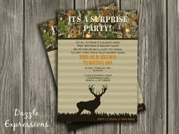 printable hunting surprise birthday invitation camo camouflage