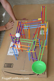 engineering project for kids build a straw roller coaster
