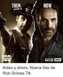 Walking Dead Meme Season 1 - then now season 1 new season oct 22 walking dead antes y ahora nueva