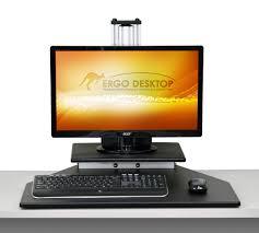 Fully Assembled Computer Desks by Kangaroo Adjustable Height Desk Ergo Desktop