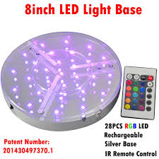Led Light Base For Centerpieces by Wholesale Remote Controlled Under Table 8inch Led Light Base For
