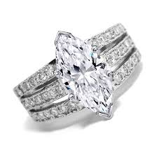 marquise cut diamond ring engagement ring marquise cut diamond engagement ring 3 row band