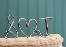 cake topper letters wedding cake topper monogram silver