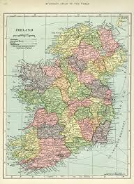 Map Ireland Ireland Map Vintage Map Download Antique Map C S Hammond