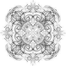 mandala skeych graphic pattern modern ornament stock illustration