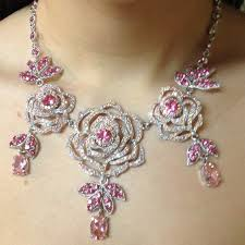 crystal necklace swarovski images 48 off swarovski jewelry swarovski crystal pink flower necklace jpg