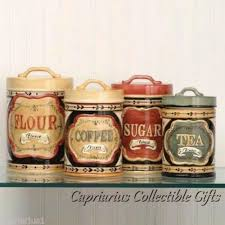 coffee themed kitchen canisters country store canister set of 4 flour sugar coffee tea