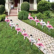 Flamingo Christmas Lawn Decorations Outdoor Tropical Christmas
