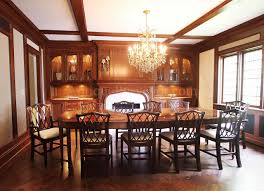 Elegant Formal Dining Room Sets Mahogany Chippendale Chairs For Elegant Formal Dining Rooms