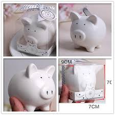 piggy bank favors 50pcs lovely small ceramics pig piggy bank with gift box baby