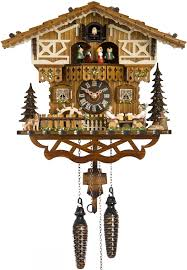kuku clock hones chalet style quartz musical cuckoo clock with moving men