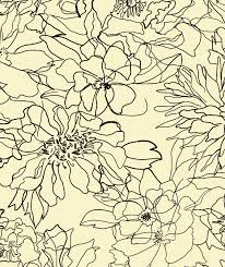 Textile Design by Floral Sketch Textile Pattern By Rebecca Klementovich Prints