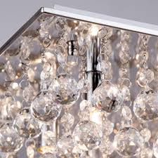 Glass Droplet Ceiling Light by Galaxy Flush Ceiling Light 8 Light Chrome From Litecraft