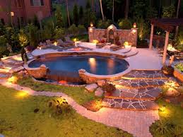 Backyard Lights Ideas Fascinating Backyard Landscape Lighting Ideas The Home Design