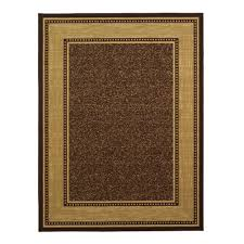 Brown Area Rugs Ottomanson Ottohome Collection Contemporary Bordered Design Brown