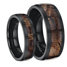 black titanium wedding band matching titanium wedding ring sets his and hers titanium diamond