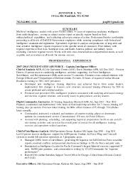 Chief Of Staff Resume Intelligence Specialist Resume